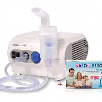 Компресорен инхалатор Omron CompAir NE-C28P + ПОДАРЪК физиологичен разтвор